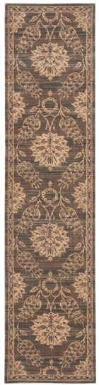 NOURISON SILK ELEMENTS GRAPHITE AREA RUG