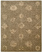 NOURISON SILKEN ALLURE CHOCOLATE AREA RUG
