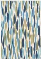 WAVERLY SUN & SHADE BITS & PIECES SEAGLASS AREA RUG BY NOURISON