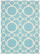 WAVERLY SUN & SHADE CONNECTED AQUAMARINE AREA RUG BY NOURISON