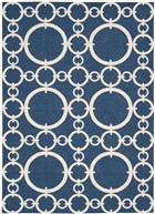 WAVERLY SUN & SHADE CONNECTED NAVY AREA RUG BY NOURISON