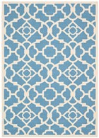 WAVERLY SUN & SHADE LOVELY LATTICE AZURE AREA RUG BY NOURISON