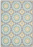 WAVERLY SUN & SHADE SOLAR FLAIR JADE AREA RUG BY NOURISON