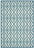 WAVERLY SUN & SHADE CENTRO AZURE AREA RUG BY NOURISON