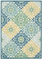 WAVERLY SUN & SHADE SWEET THINGS MARINE AREA RUG BY NOURISON