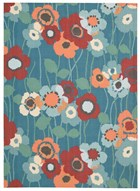 WAVERLY SUN & SHADE PIC-A POPPY BLUE BELL AREA RUG BY NOURISON