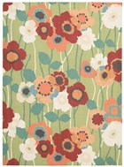 WAVERLY SUN & SHADE PIC-A POPPY SEAGLASS AREA RUG BY NOURISON