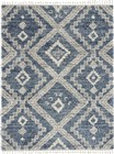 Nourison Scandinavian Shag Contemporary Denim Blue Rug SCN02