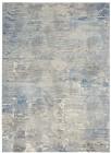 Nourison Solace Contemporary Ivory-Grey-Blue Rug SLA01