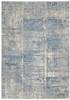 Nourison Solace Contemporary Ivory-Grey-Blue Rug SLA02