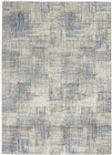 Nourison Solace Contemporary Ivory-Grey-Blue Rug SLA03