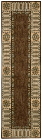 NOURISON VALLENCIERRE BROWN AREA RUG