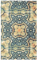 NOURISON VISTA BLUE GOLD AREA RUG