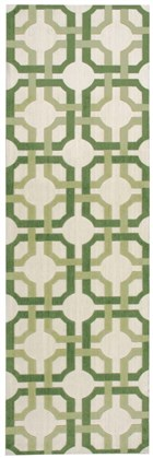 WAVERLY ARTISANAL DELIGHT GROOVY GRILLE LEAF AREA RUG BY NOURISON