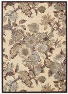 WAVERLY ARTISANAL DELIGHT GRACEFUL GARDEN BIRCH AREA RUG BY NOURISON