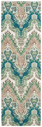 WAVERLY TREASURES PALACE SARI PRUSSIAN AREA RUG BY NOURISON