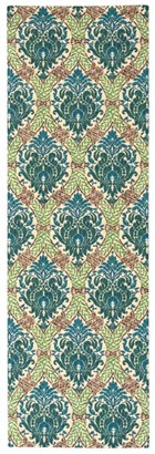 WAVERLY TREASURES DRESS UP DAMASK BLUE JAY AREA RUG BY NOURISON
