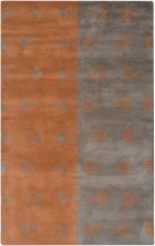 RIZZY ANNA REDMOND AD2531 GREY/ORANGE RUG