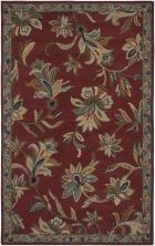 RIZZY ASHLYN AL2652 RED/GREEN RUG