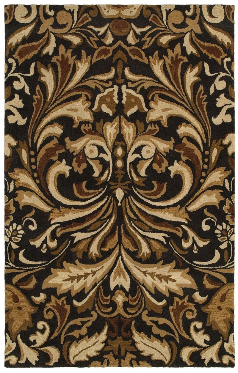 RIZZY FLORAL FL8185 CHARCOAL RUG