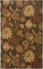 RIZZY FLORAL FL1478 Brown RUG