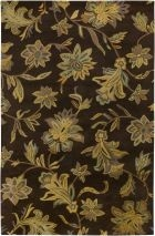 RIZZY FLORAL FL1480 Brown RUG
