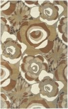 RIZZY FLORAL FL3147 BROWN RUG