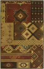 RIZZY SOUTHWEST SU1519 Brown RUG