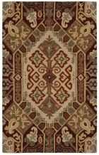 RIZZY SOUTHWEST SU8105 BEIGE/RED RUG