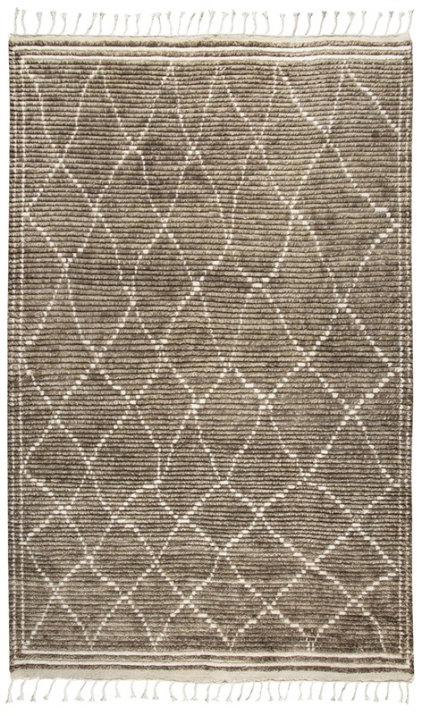 Home Afrozz Home Afrozz Nile Brown Transitional Rug NI1003