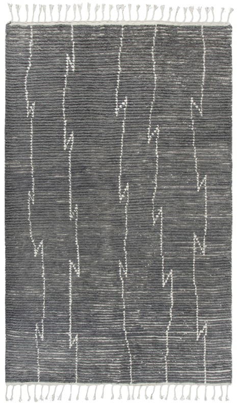 Home Afrozz Home Afrozz Nile Gray Transitional Rug NI1004