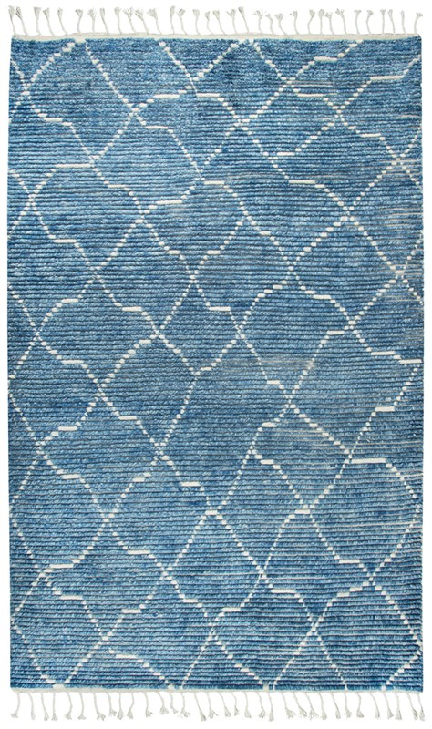 Home Afrozz Home Afrozz Nile Blue Transitional Rug NI1005
