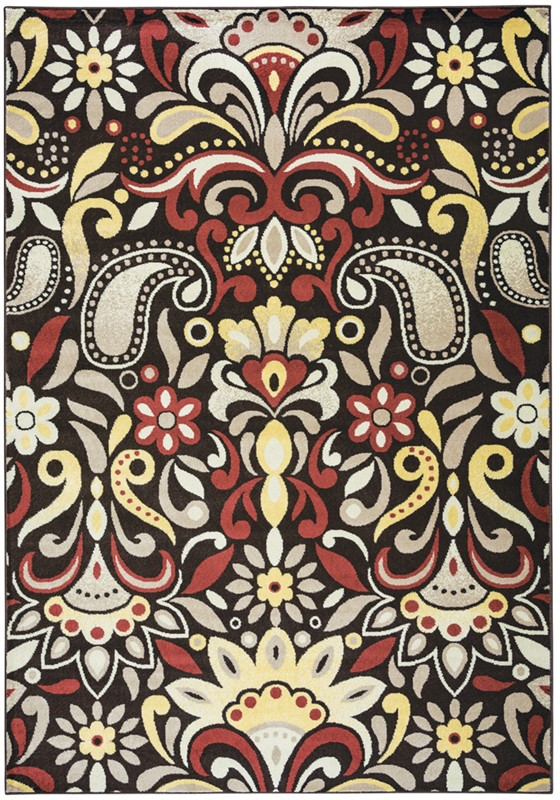 RIZZY BAYSIDE BS3571 Brown RUG