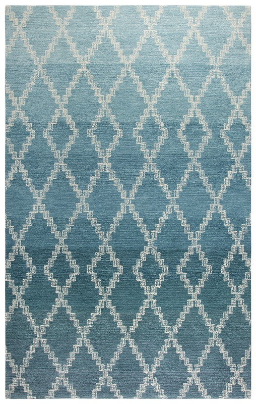 Home Afrozz Home Afrozz Ascencion Teal Casual Rug AS1002