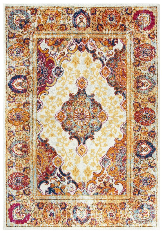 Rizzy Home  Rothport Traditional Ivory  Rug RTP102