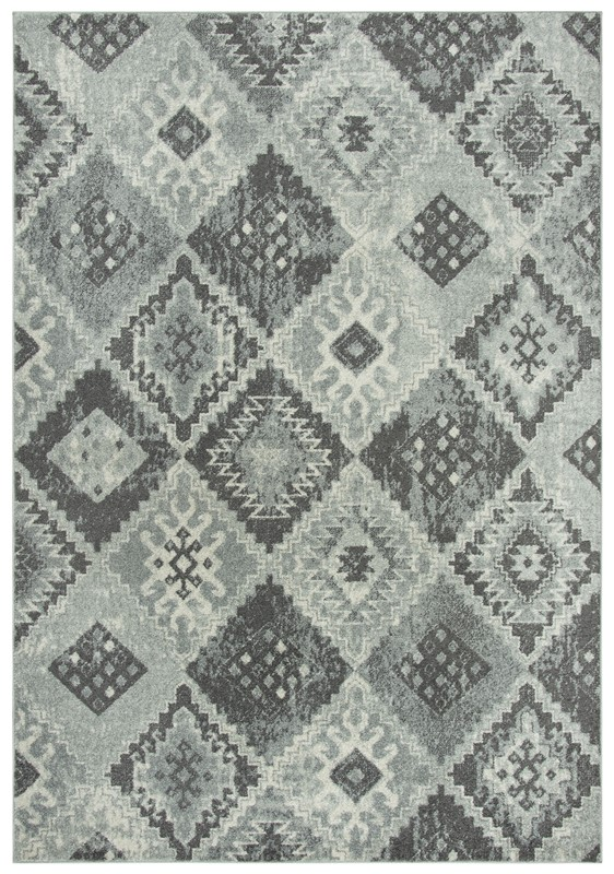 Rizzy Home  Rothport Transitional Gray Rug RTP107