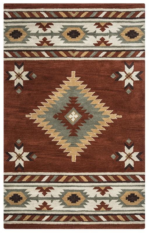 RIZZY SOUTHWEST SU1822 Navajo Red RUG