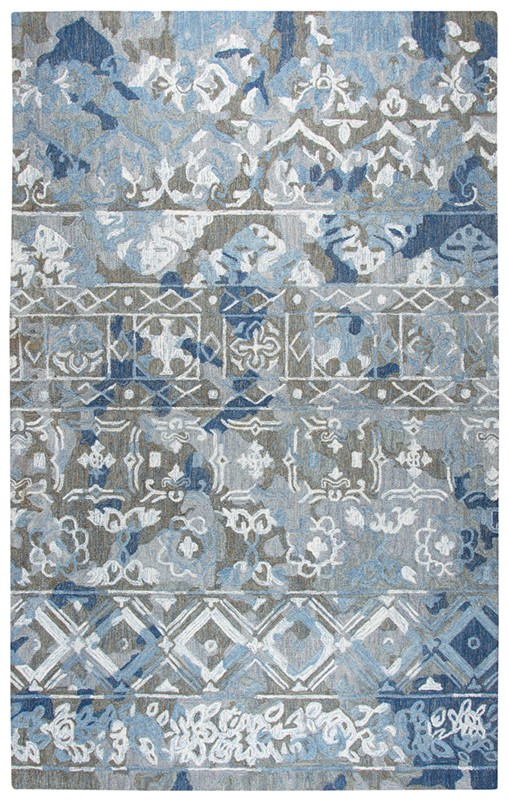 Home Afrozz Home Afrozz Sapphire Gray Boho Rug SP1003