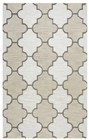 Home Afrozz Home Afrozz Berlin Ivory Geometric Rug BN1009
