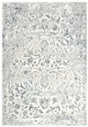 Home Afrozz Home Afrozz Glamour Ceam/Gray Transitional Rug GM1006