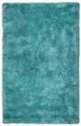 Home Afrozz Home Afrozz York Blue-Aqua Shag Rug YO1013