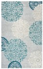 Home Afrozz Home Afrozz Charming Blue Transitional Rug CM1003