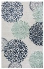Home Afrozz Home Afrozz Milan Navy Transitional Rug ML1010