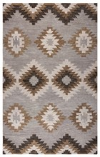 Home Afrozz Home Afrozz Napoli Gray Southwest Rug NP1000