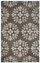 Home Afrozz Home Afrozz Napoli Brown Transitional Rug NP1009