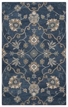 Home Afrozz Home Afrozz Napoli Blue Transitional Rug NP1003