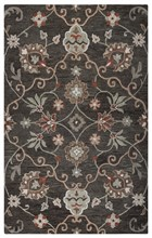 Home Afrozz Home Afrozz Napoli Brown Transitional Rug NP1015