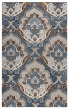 Home Afrozz Home Afrozz Napoli Blue Transitional Rug NP1019