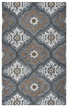 Home Afrozz Home Afrozz Napoli Blue Transitional Rug NP1022