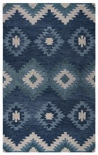 Home Afrozz Home Afrozz Napoli Blue Southwest Rug NP1024